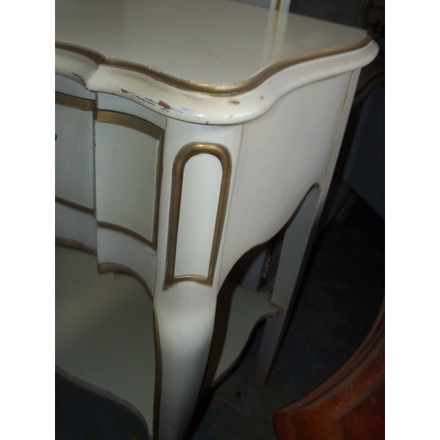 Image of French Provincial Style Night Stand Table