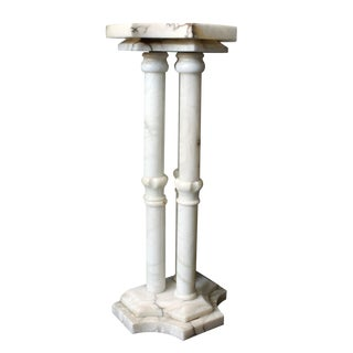 Three Pillar Alabaster Pedestal