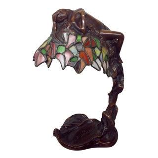 E Thomasson Art Nouveau Bronze Daphne Lamp