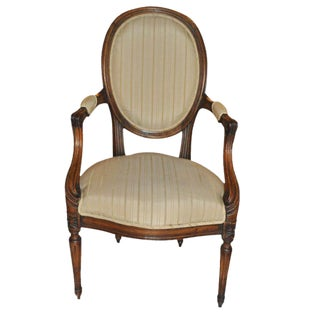 French Padded Arm Fauteuil