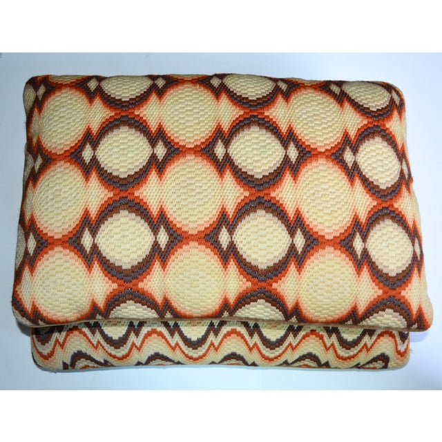 1970s Needlepoint Geometric Pillows - a Pair - Image 2 of 7