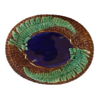 Antique English Majolica Platter