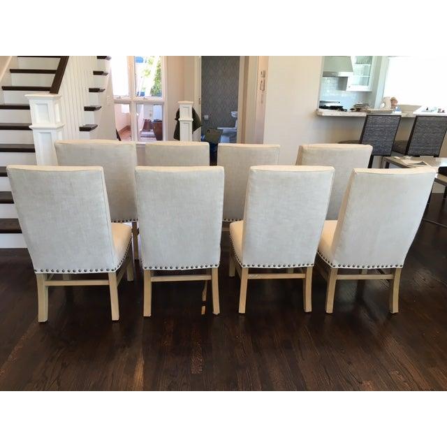 restoration hardware dining chairs set of 8 chairish