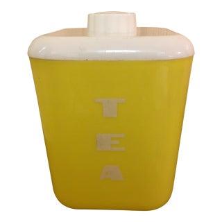Mid-Century Yellow Tea Bin
