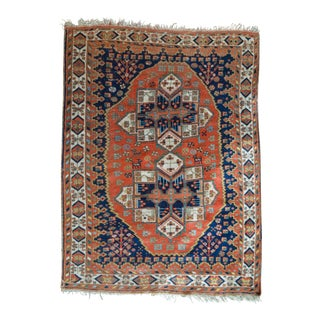 "Antique Persian Afshar Tribal Rug - 4'7"" x 6'4"""