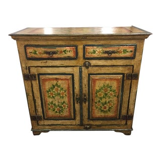 Hand-Painted Indian Side Cabinet