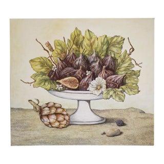 Figs With Artichoke Original Acrylic Painting