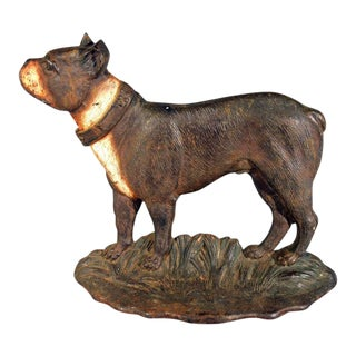 Connecticut Cast Iron Doorstop in the Form of a Boston Terrier