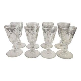 Mid-Century Fine Cut Sherry Shot Glasses - Set of 8