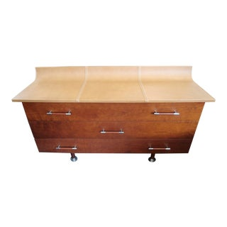 Giorgetti High Curved Leather Top Dresser