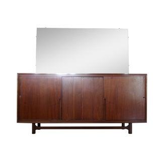 Vintage Cavalier Mid Century 12 Drawer Lowboy Dresser With Mirror