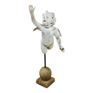 Antique Garden Cherub Sculpture