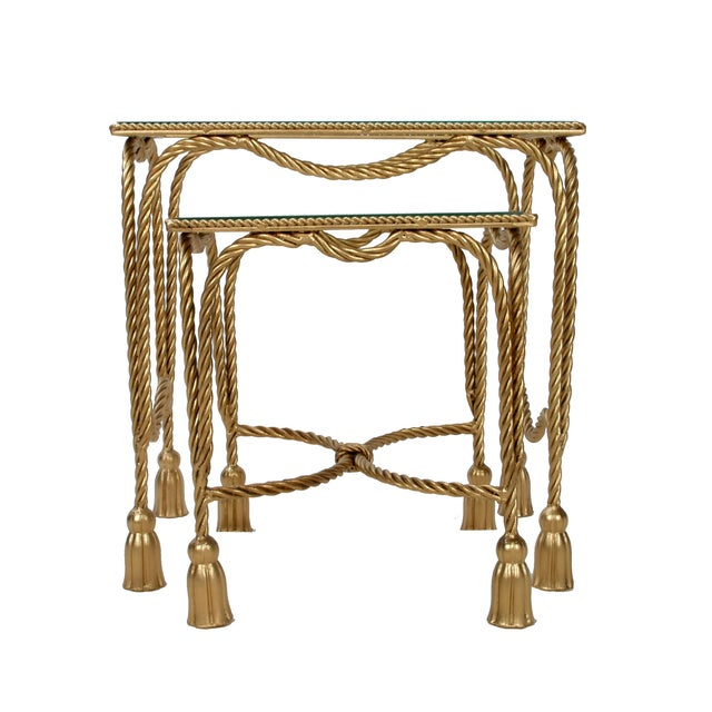 Decorative Gilt Metal Nesting Tables - a Pair - Image 5 of 9