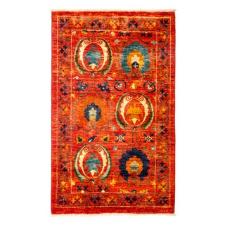 """Suzani Hand-Knotted Rug - 3'1"""" X 5'1"""""""
