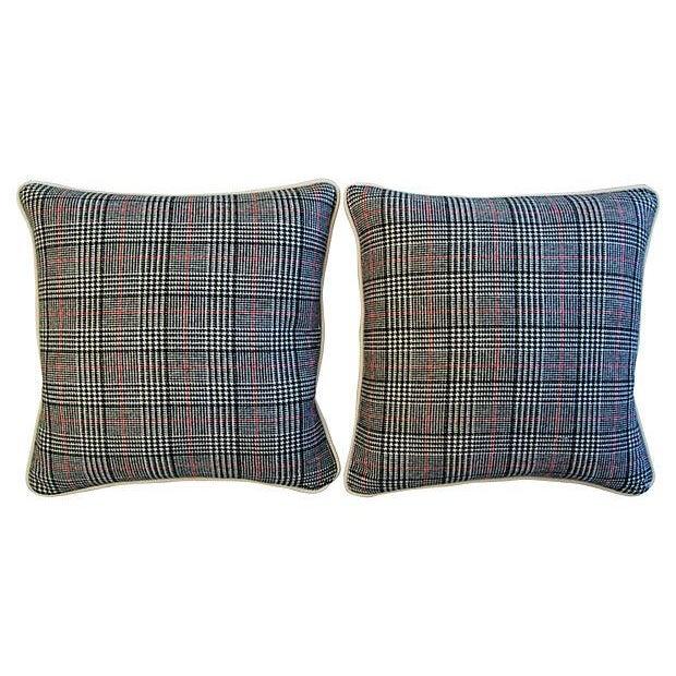Custom Ralph Lauren Houndstooth Pillows - A Pair - Image 7 of 7