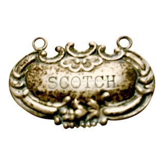 Antique Sterling Silver Scotch Label