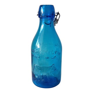 Vintage Italian Blue Glass Bottle