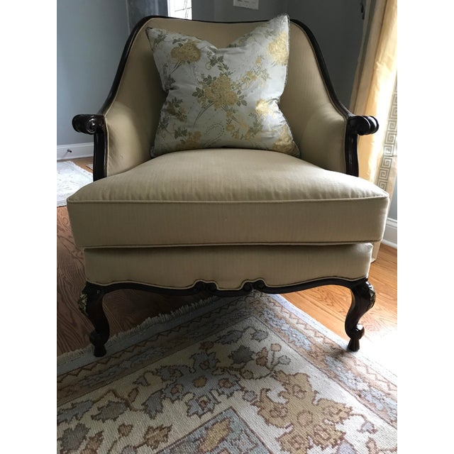 Century Furniture Chair & Ottoman With Floral Pillow - a Pair - Image 5 of 10