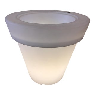 Rotoluxe Magnum Lighted Plastic Flower Pot