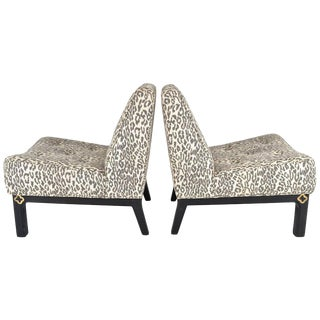 Pair 1940s Slipper Chairs