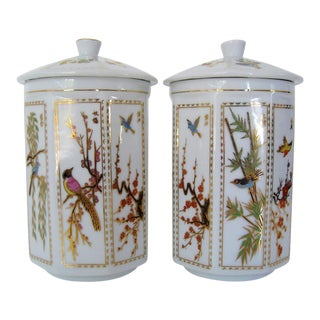 Chinese Porcelain Canisters - a Pair