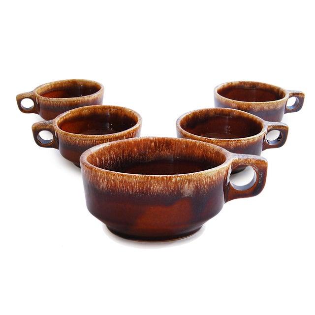 Brown Drip Glaze Chili & Soup Mugs - Set of 5 - Image 5 of 5