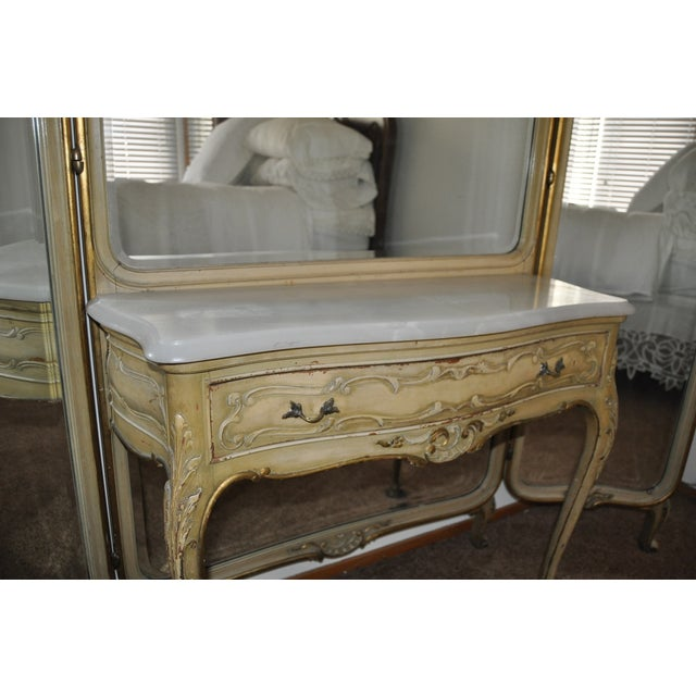 Vintage 1920s French Louis XV Style Vanity - Image 10 of 11