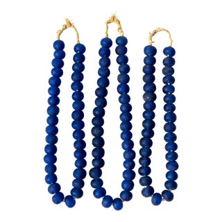 Strand of Glass Trade Beads - Dark Blue