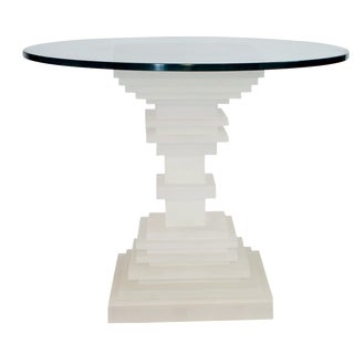 Art Deco-Revival Resin Table
