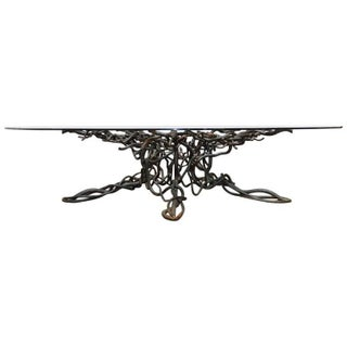 Twisted Iron Cocktail Table In The Style of Giacometti