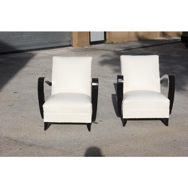 French Art Decor Club Chairs - A Pair - Image 7 of 10