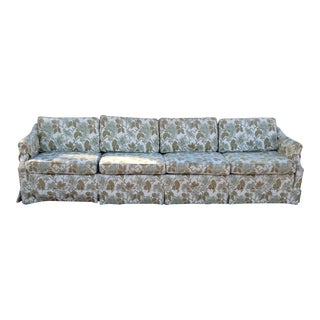 Vintage 1970s Four Seat Floral Upholstered Sofa