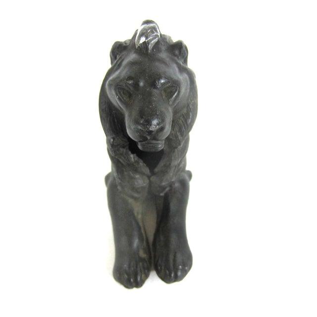 Image of Decorative Cast Metal Lion Circa 1930s