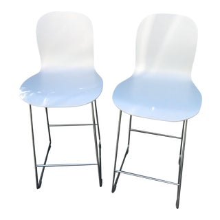 Cappellini Tate White Bar Stools - A Pair