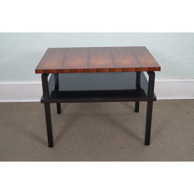 Image of Councill Rosewood & Lacquer Base Side Table