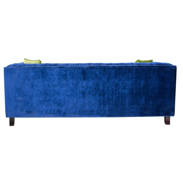 Pasargad Victoria Collecion Royal Blue Velvet Sofa - Image 7 of 7