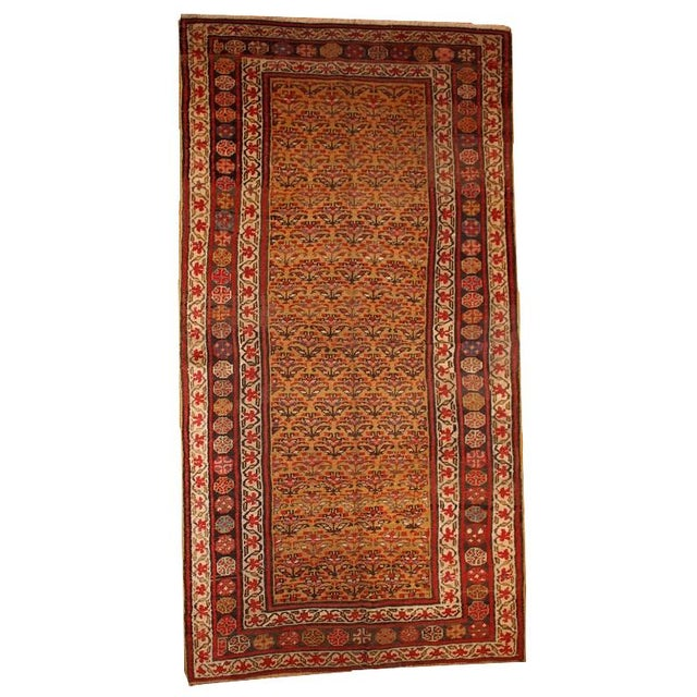 1880s Hand Made Antique Persian Kurdish Rug - 4′1″ × 7′8″ - Image 1 of 6