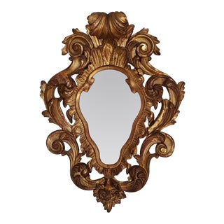 18th Century Antique Italian Rococo Gilt Mirror