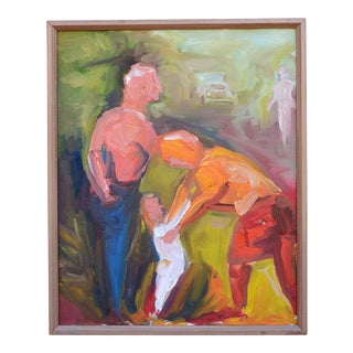 Figurative Expressionist Oil Painting
