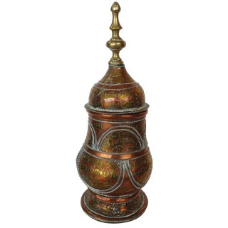 Brass & Copper Lidded Vessel
