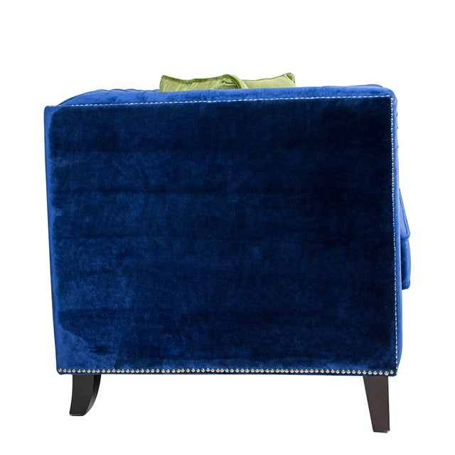 Pasargad Victoria Collecion Royal Blue Velvet Sofa - Image 5 of 7
