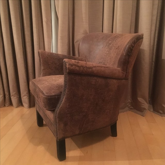 Professor's Leather Chair With Nailheads - Image 3 of 5