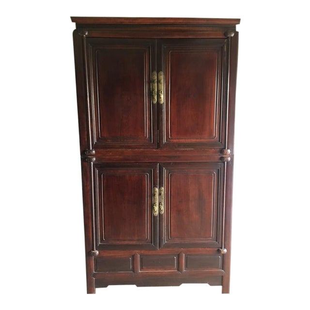 Asian style entertainment armoire chairish for Entertainment armoire