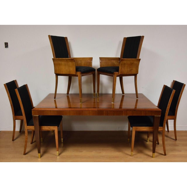 Mahogany Henredon Dining Table & Chairs - Image 11 of 11