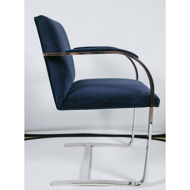 Brno Flat Bar Chairs in Navy Velvet, Set of Six - Image 2 of 9