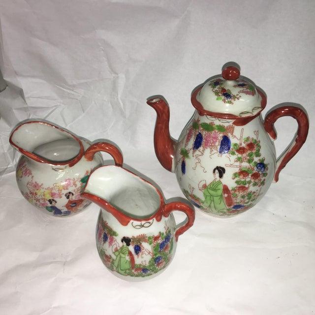 Japanese Porcelain Tea Set - Set of 22 - Image 7 of 10