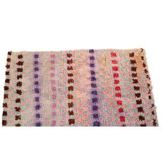 "Vintage Boucherouite Rag Rug - 3'8""x6'1"""