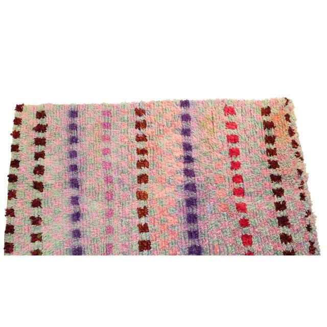 """Vintage Boucherouite Rag Rug - 3'8""""x6'1"""" - Image 1 of 3"""