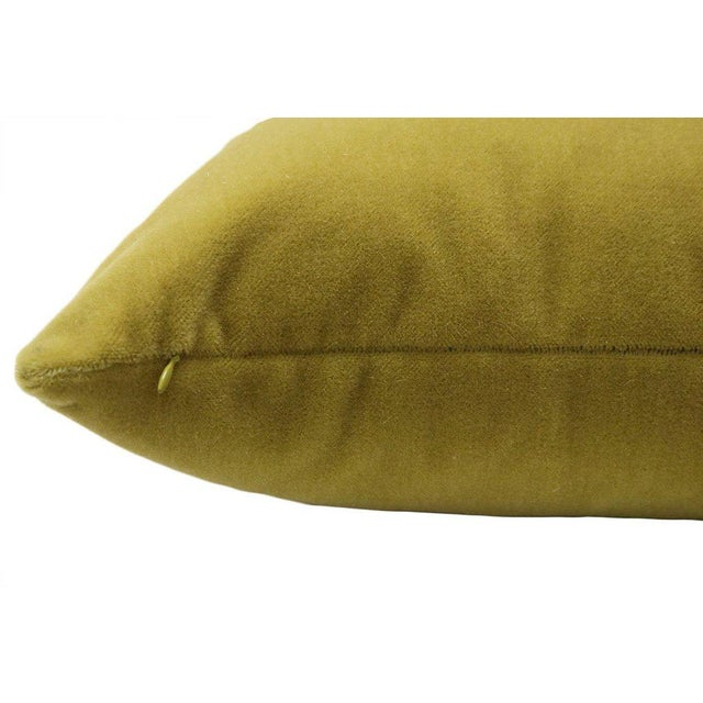 "22"" Mohair Velvet Pillows in Chartreuse - a Pair - Image 5 of 5"