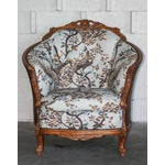 Image of Antique Carved Barrel Chair